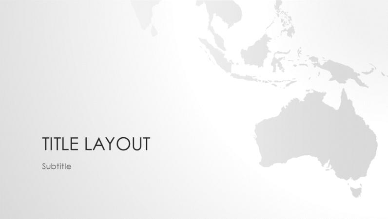 World maps series, Australian continent presentation (wide-screen)