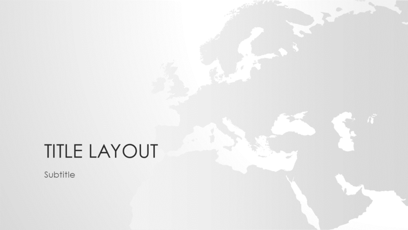 World maps series, European continent presentation (wide-screen)