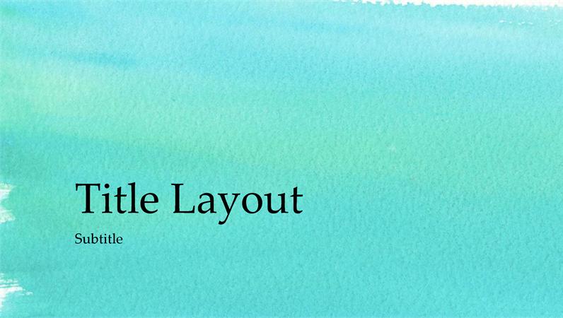 Watercolour presentation (widescreen)