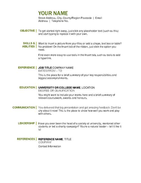 Basic CV
