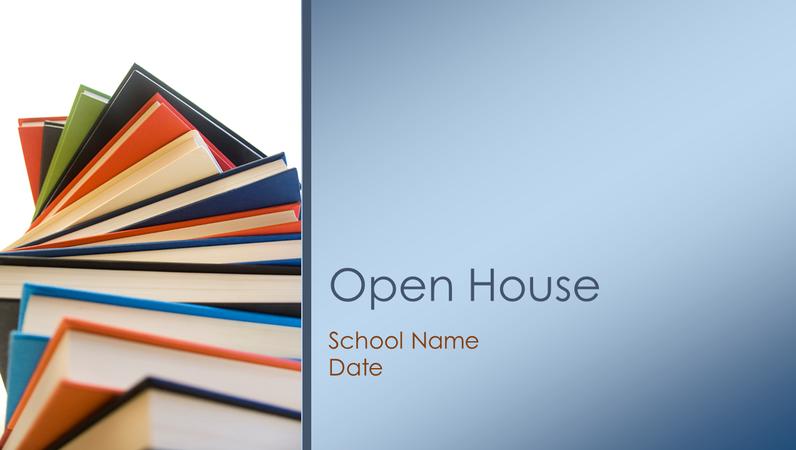 Classroom open-house presentation