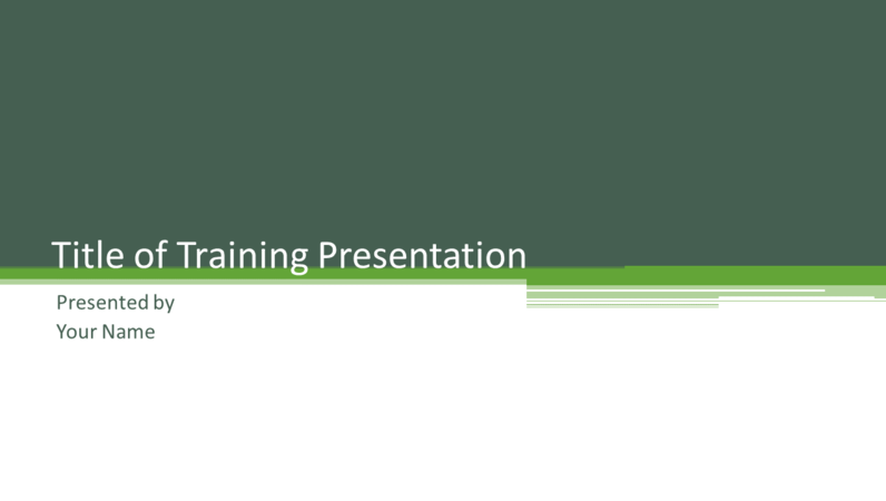 Training presentation