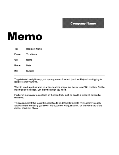 Interoffice Memo (Professional design)