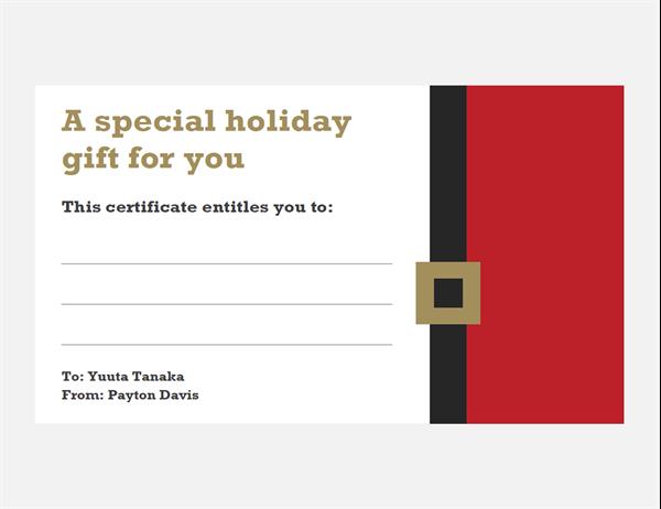 Christmas gift vouchers (Christmas Spirit design, three per page)