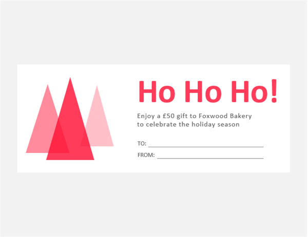 Christmas gift vouchers (10 per page)