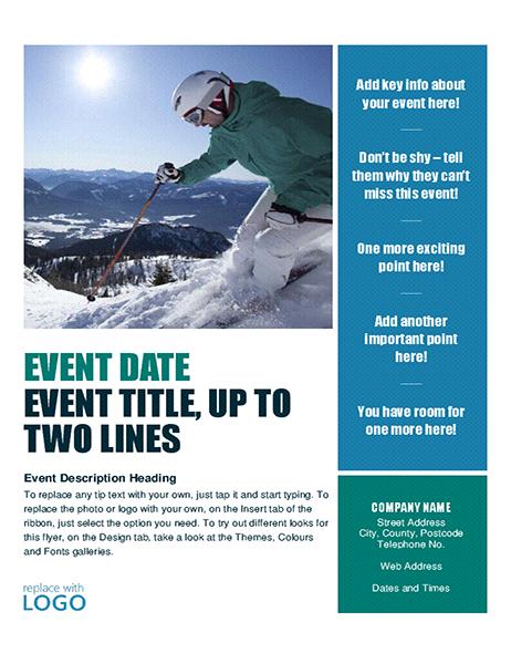 Seasonal event flyer (autumn)