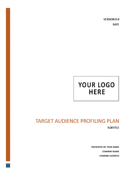 Target audience profiling plan