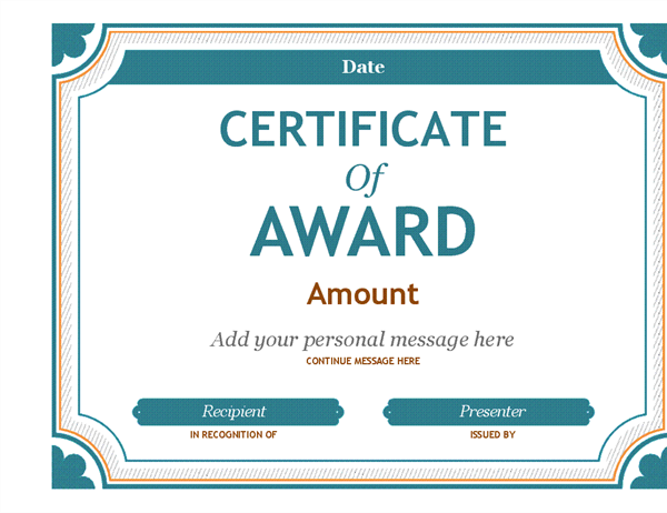 Gift certificate award office templates templates support buy office 365 gift certificate award yelopaper Gallery