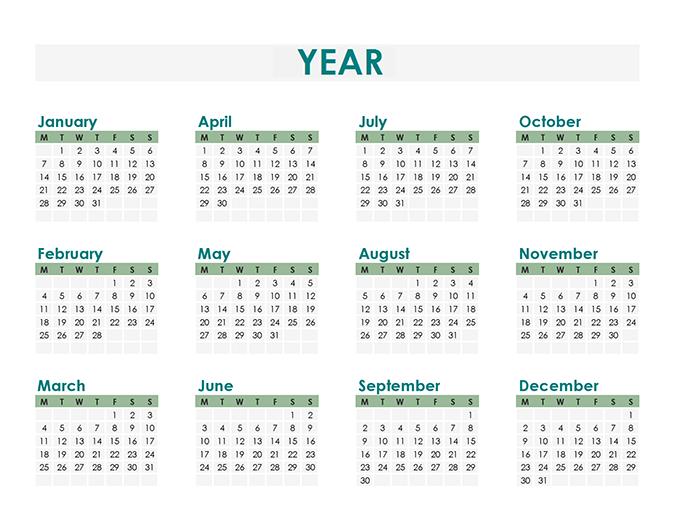Calendar creator (any year)