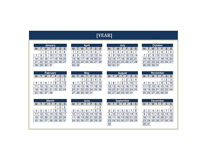 Calendar (any year)