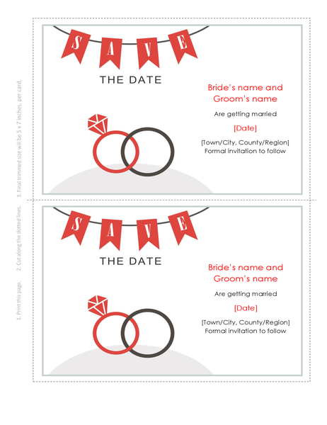 Wedding save-the-date card
