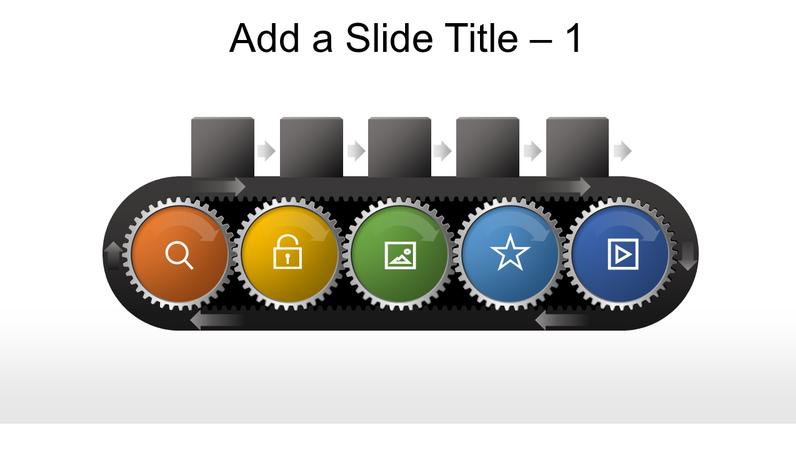 Conveyor belt gear graphic