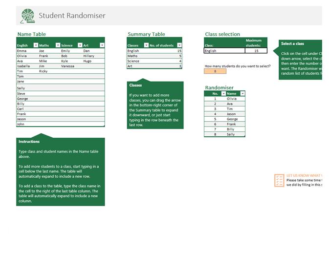 Student randomiser