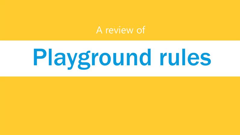 Playground rules presentation