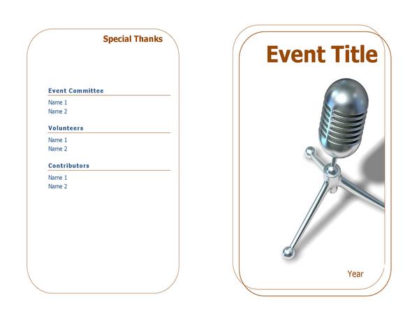 Event programme (half-fold)