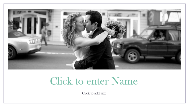 Simple wedding photo album