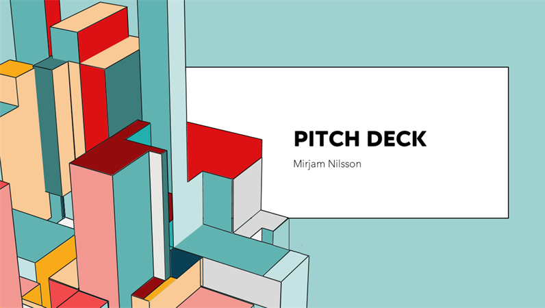 Architecture pitch deck