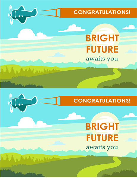 Bright future graduation card