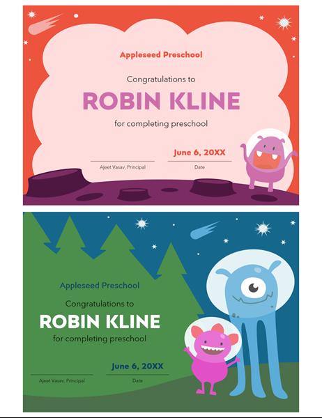 Nursery certificate
