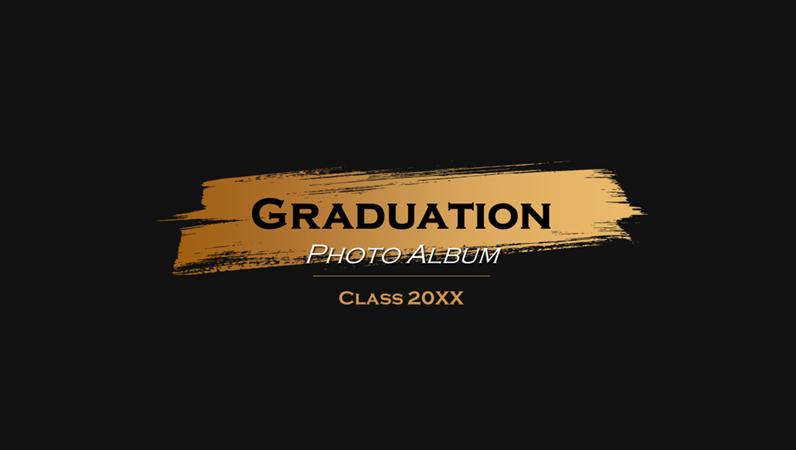 Dark graduation photo album