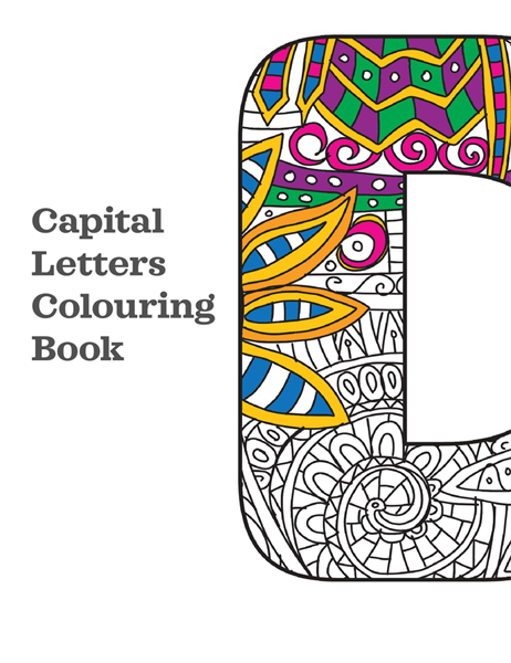 Capital letters colouring book