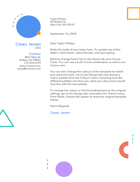 Eighties letterhead