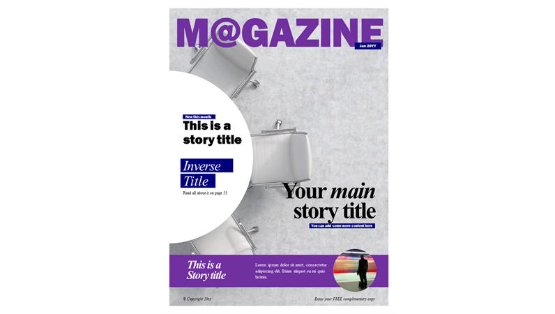 Social magazine covers