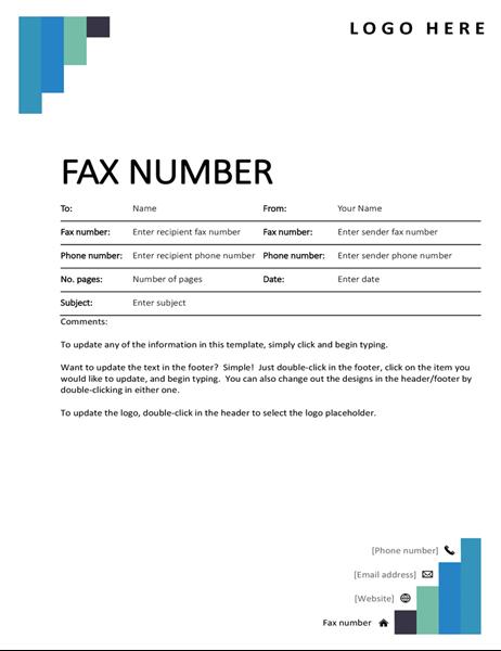 Blue steps fax cover