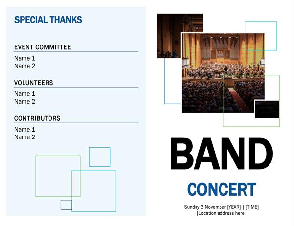 Band concert programme