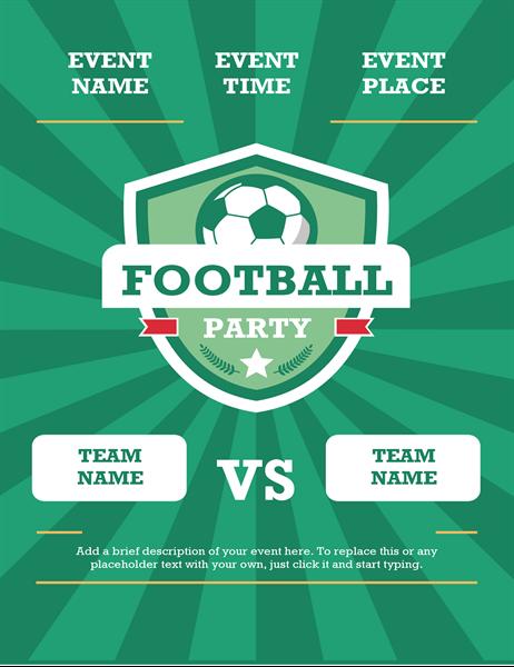 Football party flyer (international)