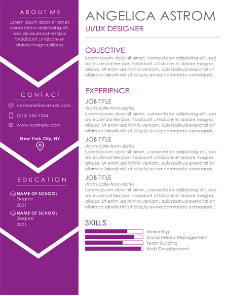 Contemporary CV