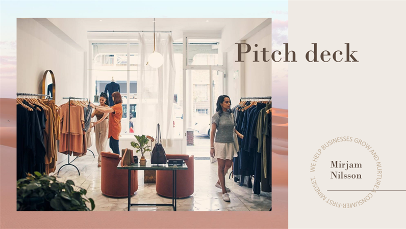 Retail pitch deck