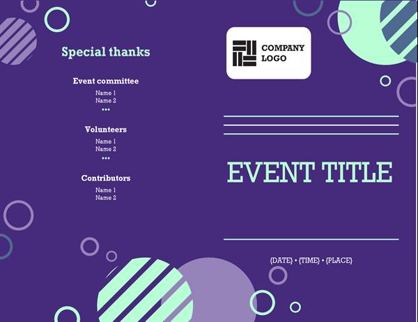 Company event programme