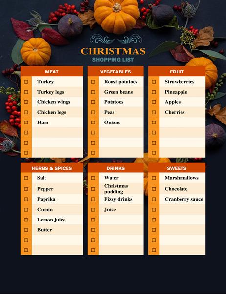 Nature's bounty Christmas shopping list
