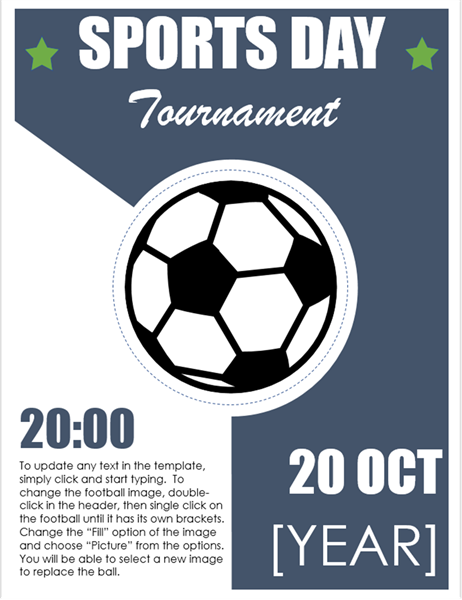 Sports day event flyer