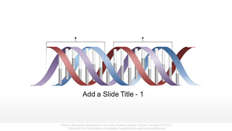 Horizontal DNA graphic