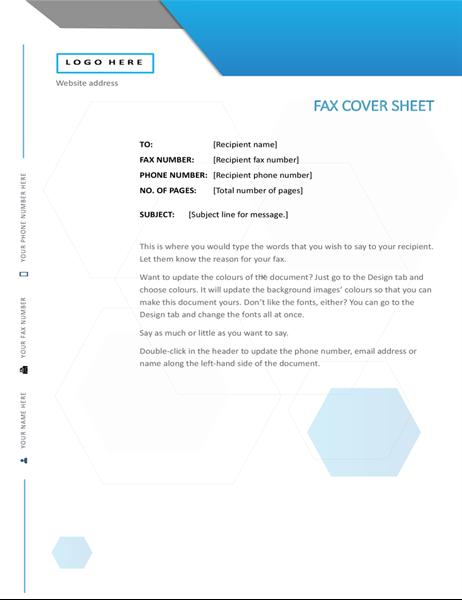 Hexagon fax cover