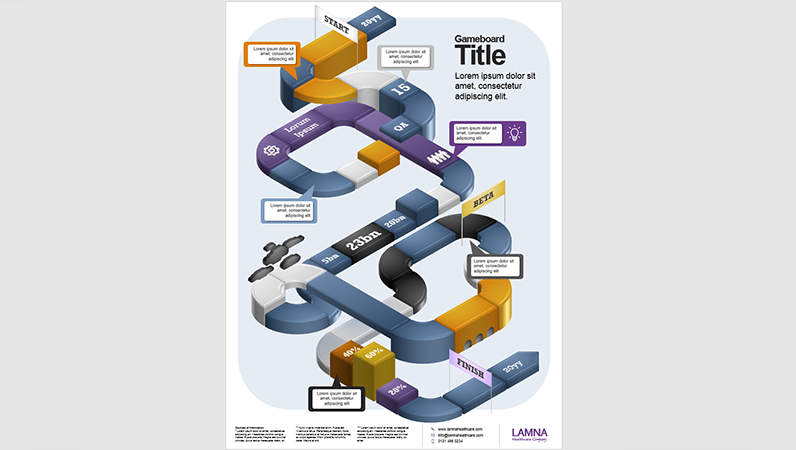 Gameboard infographics poster