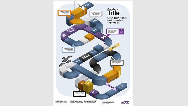 Affiche d'infographie Plateau de jeu