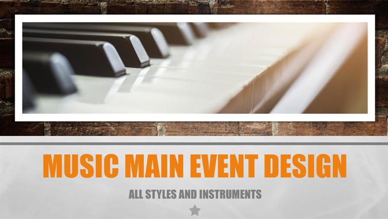 Music Main Event design