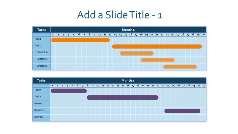 Two-month Gantt chart