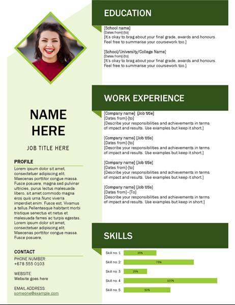 Green cube CV