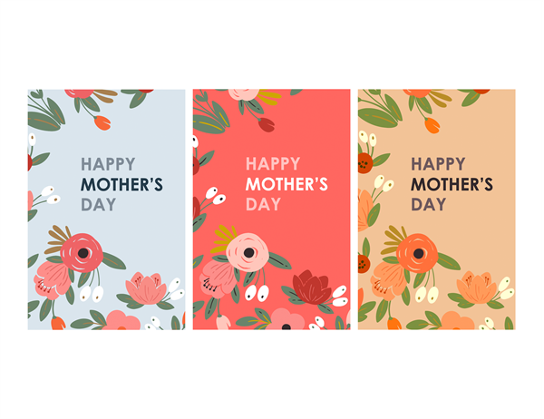 Elegant floral Mother's Day card