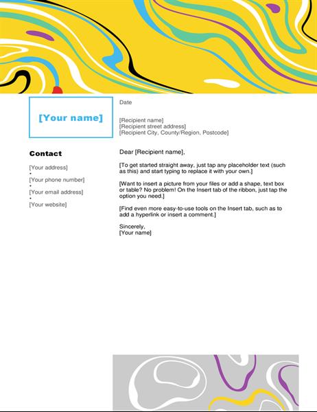 Swirl colour letterhead