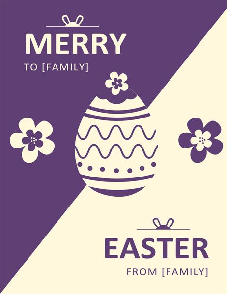 Purple Easter card