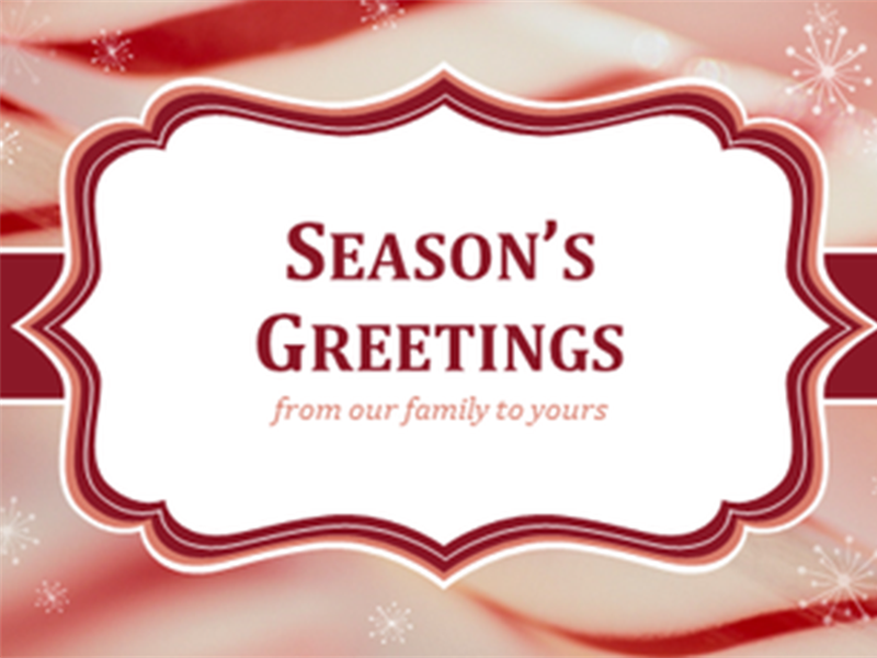 Candy cane swirls Christmas cards (2 per page)