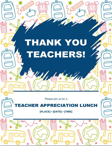 Teacher appreciation flyer