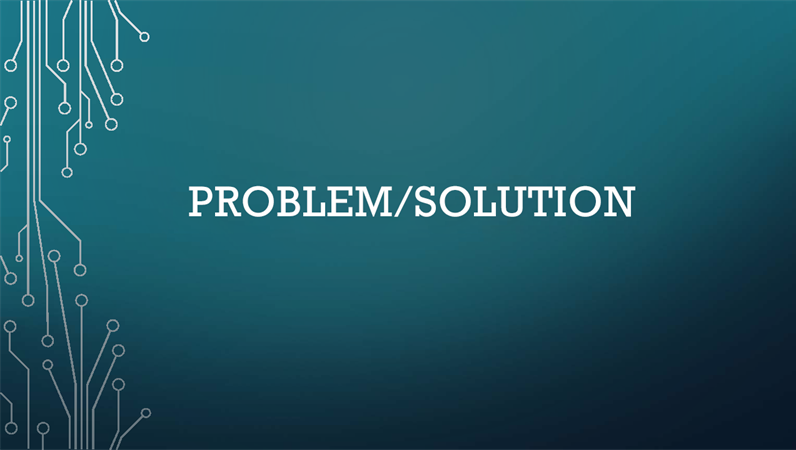 Problem/solution cycle