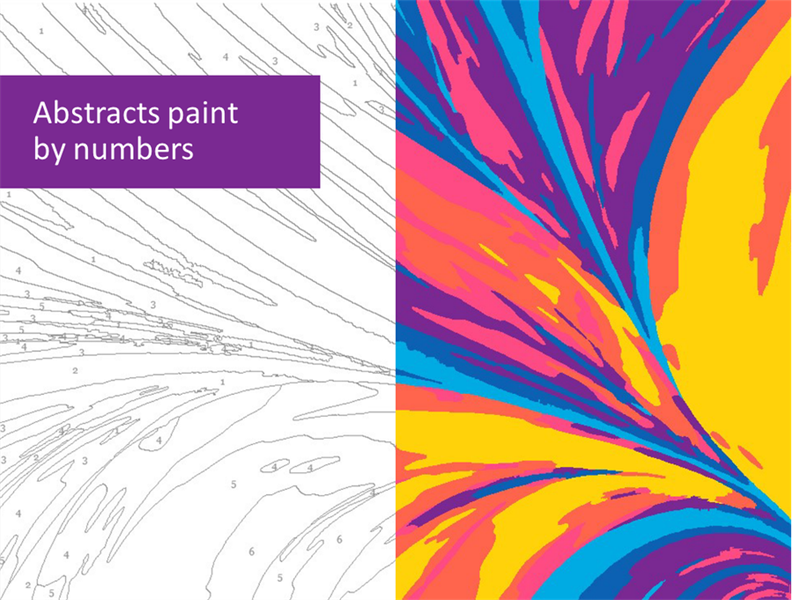 Abstracts paint by numbers