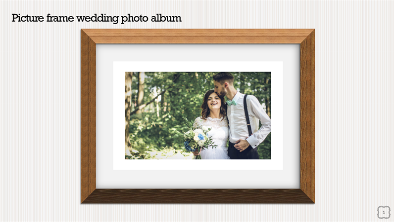 Picture frame wedding photo album